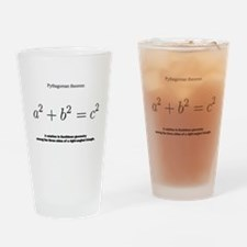 Pythagorean theorem: mathematics Drinking Glass
