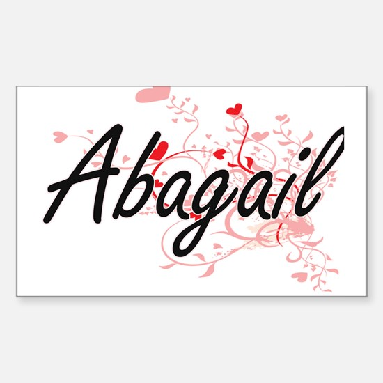 Abagail Artistic Name Design with Hearts Decal