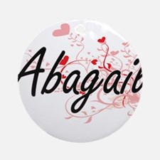 Abagail Artistic Name Design with Ornament (Round)