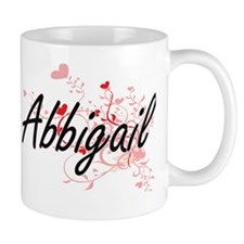 Abbigail Artistic Name Design with Hear Mug
