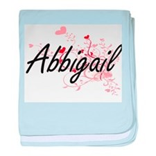 Abbigail Artistic Name Design with He baby blanket