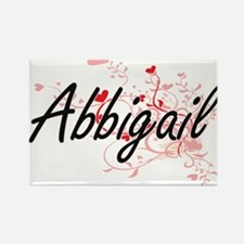 Abbigail Artistic Name Design with Hearts Magnets