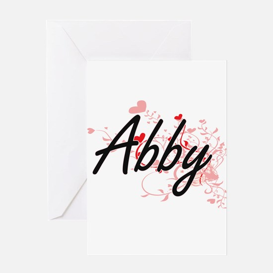 Abby Artistic Name Design with Hear Greeting Cards
