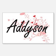 Addyson Artistic Name Design with Hearts Decal