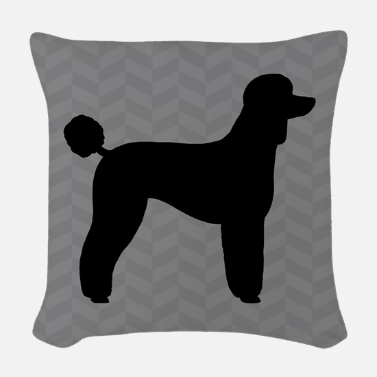 Standard Poodle Woven Throw Pillow