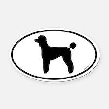 Standard Poodle Oval Car Magnet