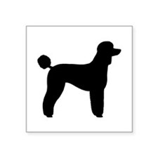 "Standard Poodle Square Sticker 3"" x 3"""