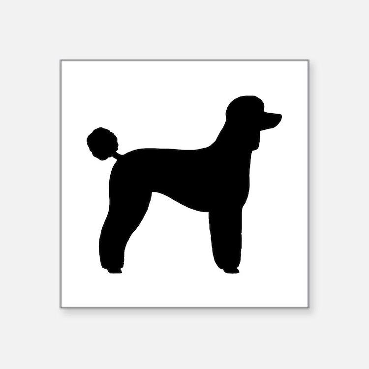 "Standard Poodle Square Sticker 3"" x 3"""