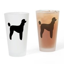 Standard Poodle Drinking Glass
