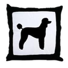 Standard Poodle Throw Pillow
