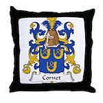 Cornet Family Crest Throw Pillow