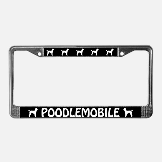 Poodlemobile (lamb cut) License Plate Frame