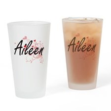 Aileen Artistic Name Design with He Drinking Glass