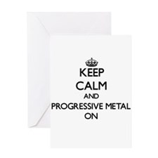 Keep Calm and Progressive Metal ON Greeting Cards