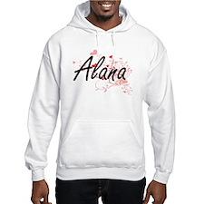 Alana Artistic Name Design with Hoodie Sweatshirt