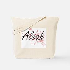 Aleah Artistic Name Design with Hearts Tote Bag