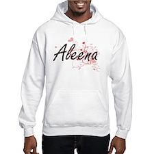 Aleena Artistic Name Design with Hoodie Sweatshirt