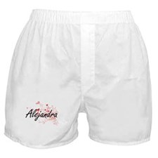 Alejandra Artistic Name Design with H Boxer Shorts