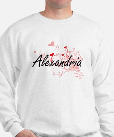 Alexandria Artistic Name Design with He Sweater