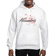 Alexandria Artistic Name Design Hoodie Sweatshirt