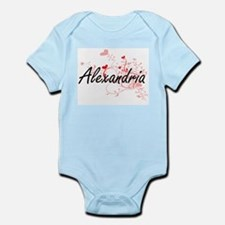 Alexandria Artistic Name Design with Hea Body Suit