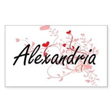Alexandria Artistic Name Design with Heart Decal