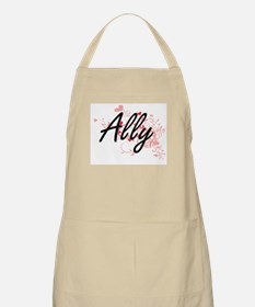 Ally Artistic Name Design with Hearts Apron