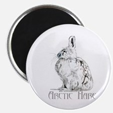 "Arctic Hare White Rabbit 2.25"" Magnet (10 pack)"