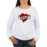 Mom heart tattoo Women's Long Sleeve T-Shirt