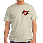 Mom heart tattoo Light T-Shirt