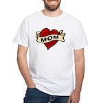 Mom heart tattoo White T-Shirt