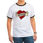 Mom heart tattoo Ringer T