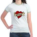 Mom heart tattoo Jr. Ringer T-Shirt