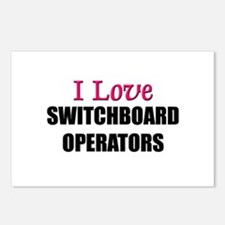 I Love SWITCHBOARD OPERATORS Postcards (Package of