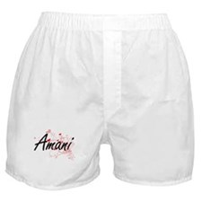 Amani Artistic Name Design with Heart Boxer Shorts