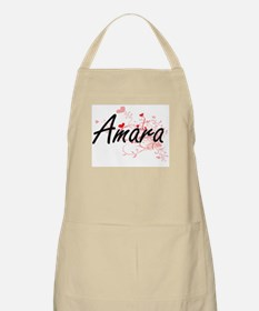 Amara Artistic Name Design with Hearts Apron