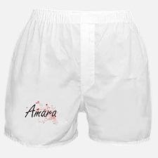 Amara Artistic Name Design with Heart Boxer Shorts