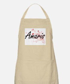 Amaris Artistic Name Design with Hearts Apron