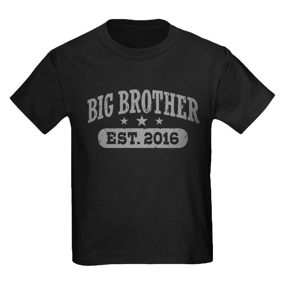 CafePress Big Brother Est. 2016 Kids Dark T-Shirt