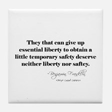 Liberty Quote Tile Coaster