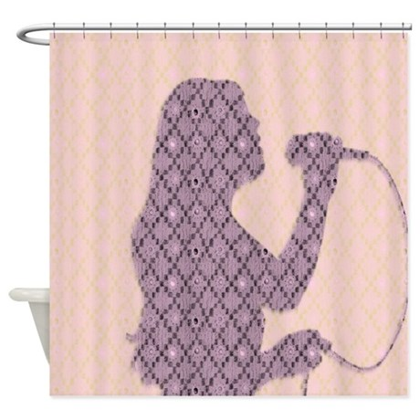 Female Singer Pink Shower Curtain By Admin CP11861778