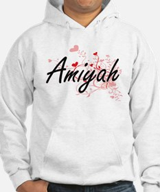 Amiyah Artistic Name Design with Hoodie