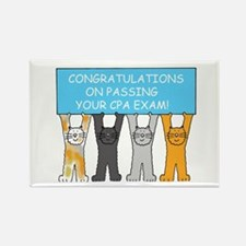 Congratulations on passing CPA ex Rectangle Magnet