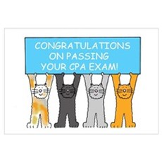 Congratulations on passing CPA exam Framed Print