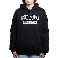 Great Grandma Est. 2016 Women's Hooded Sweatshirt