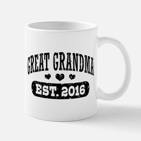 Great Grandma Est. 2016 Mug