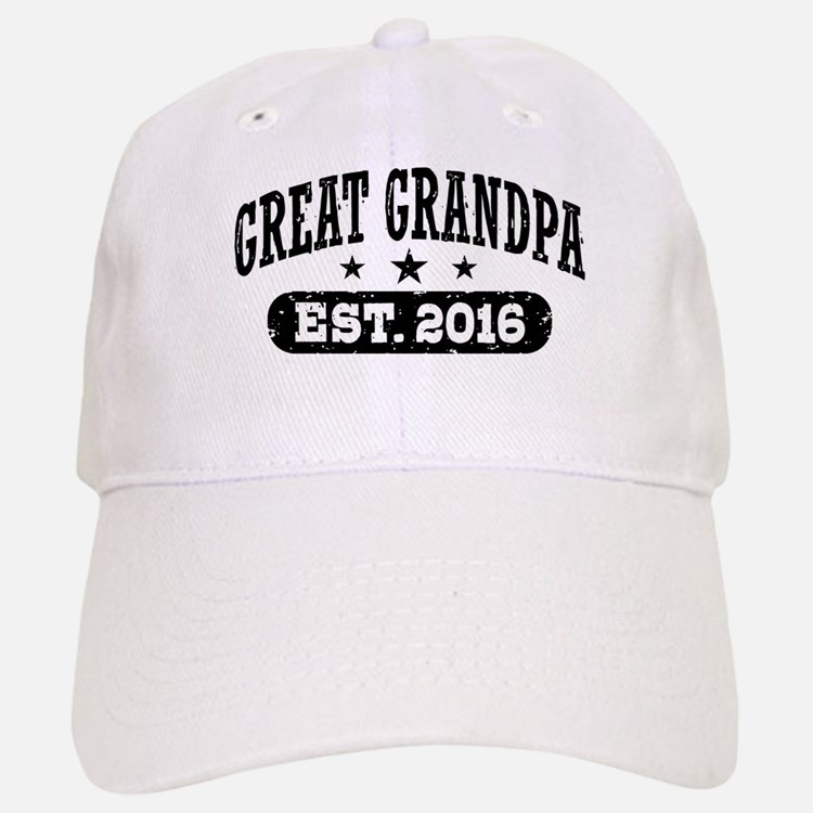 Great Grandpa Est. 2016 Baseball Baseball Cap