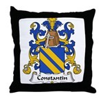 Constantin Family Crest  Throw Pillow