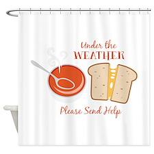 Please Send Help Shower Curtain