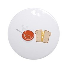 Soup  & Sandwich Ornament (Round)